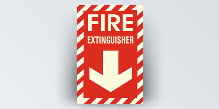 Fire Extinguisher 8 x 12 in