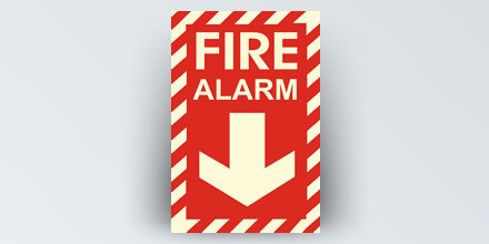 Fire Alarm 8 x 12 in