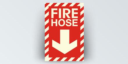 Fire Hose 8 x 12 in