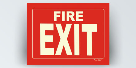 Fire EXIT 14 x 10 in
