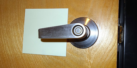 Photoluminescent thin polyester sticker Door Handle Backing