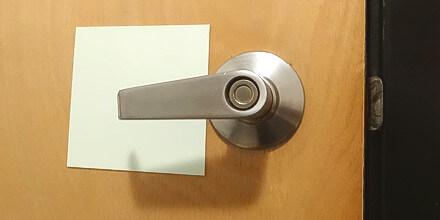 Photoluminescent rigid PVC Door Handle Backing
