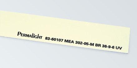 Aluminum marking strip, Foamy adhesive