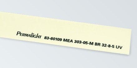 Flexible vinyl marking strip, Self-adhesive