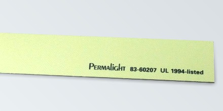 Photoluminescent aluminum strip