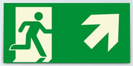 Man running + Arrow right up