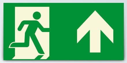 Man running + Arrow up