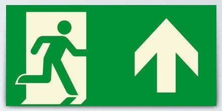 Man running + Arrow up