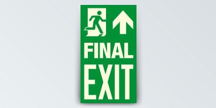 FINAL EXIT + Arrow up