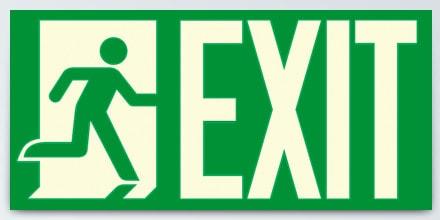 Man running + EXIT