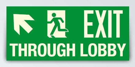 EXIT THROUGH LOBBY + Arrow left up
