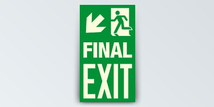 FINAL EXIT + Arrow left down