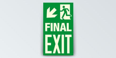 FINAL EXIT + Arrow left down