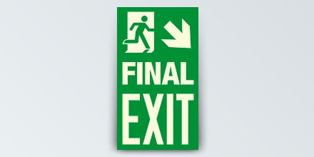 FINAL EXIT + Arrow right down