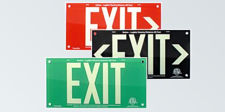 ACRYLIC EXIT Signs - Elegant Design!