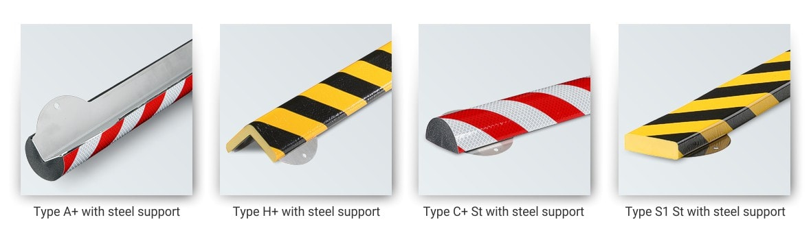 Safety Bumper Guards with steel support