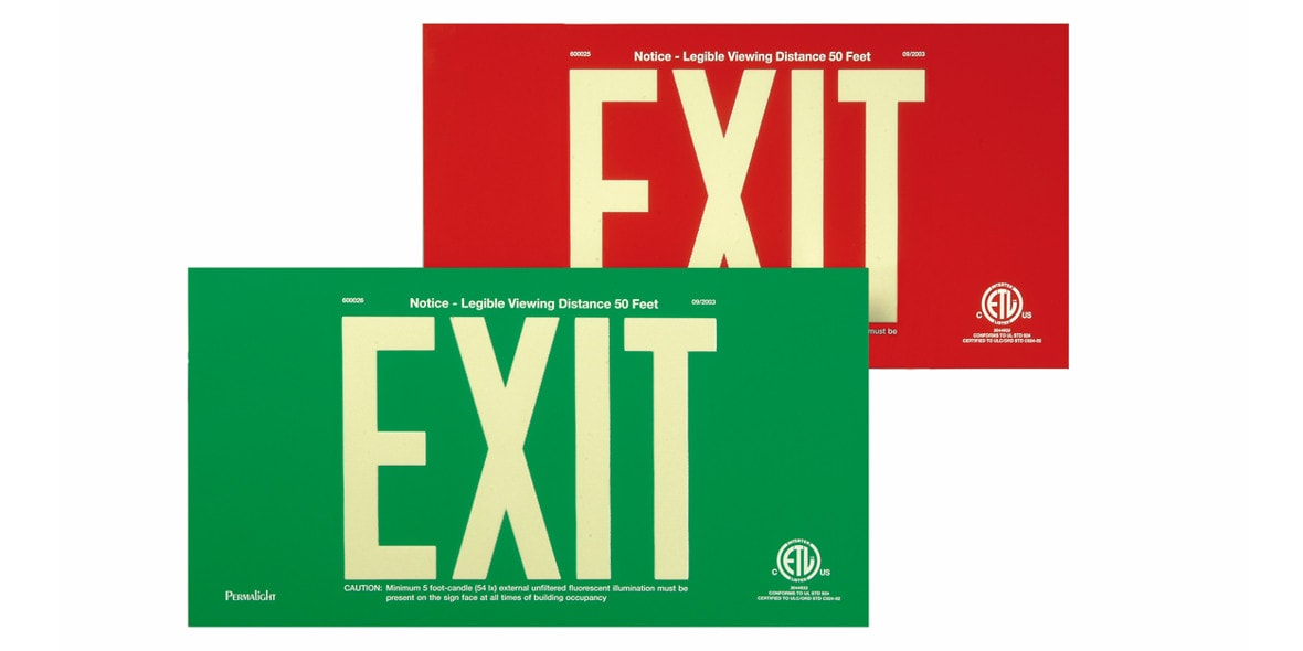 EXIT Signs Demo: Lights On