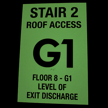 Floor Identification Signs Demo: Lights Off