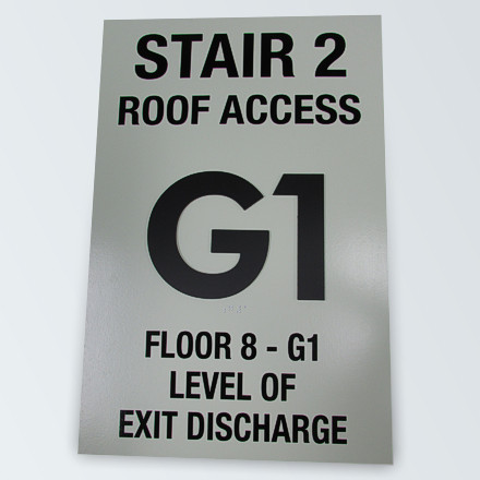 Floor Identification Signs Demo: Lights On