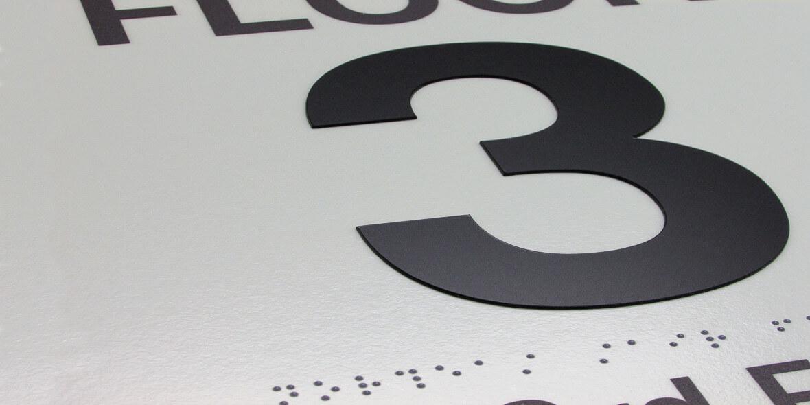 Floor Identification Signs Demo: Lights On
