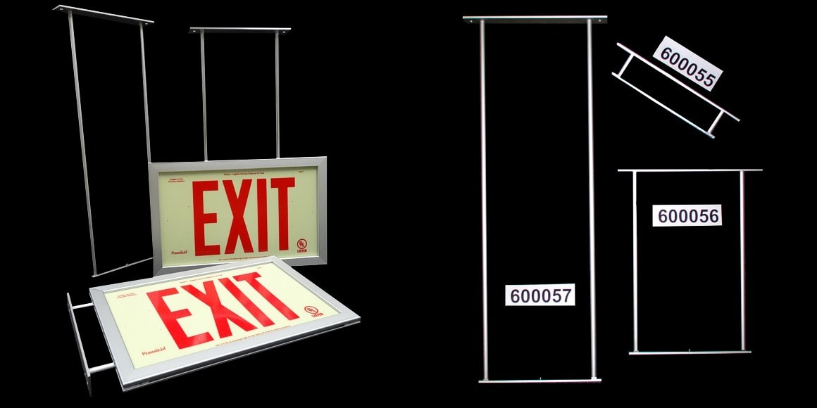 Mounting Brackets for Framed Exit Signs