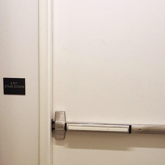 Argyle House - Push Bar Marking
