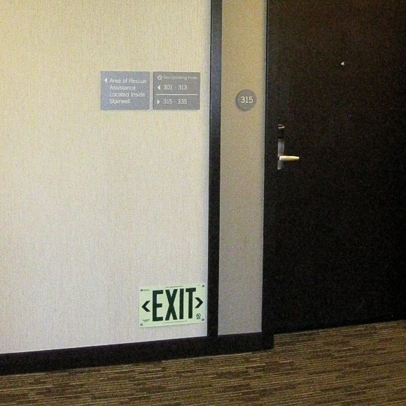 Hyatt Place - EXIT sign in floor-proximity