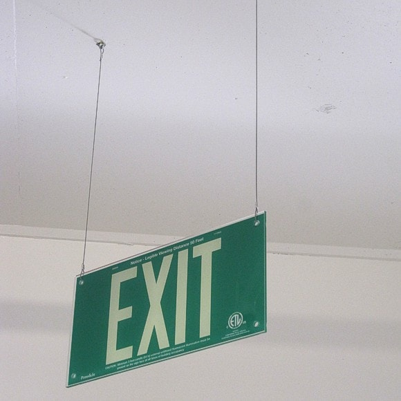 St. Jude Hospital - EXIT sign, green [2]