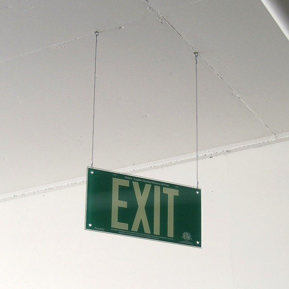 St. Jude Hospital - Green EXIT sign