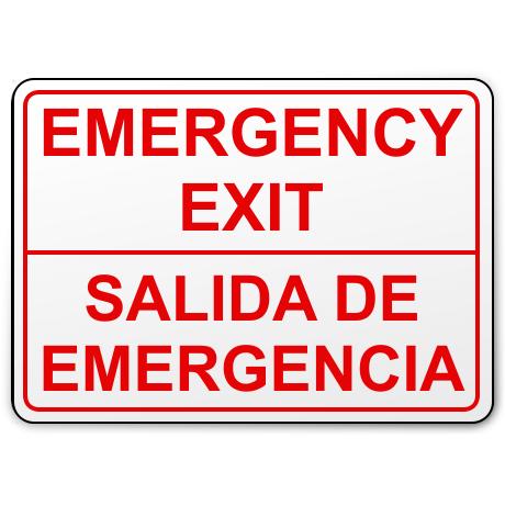 Salida de Emergencia (bilingual)