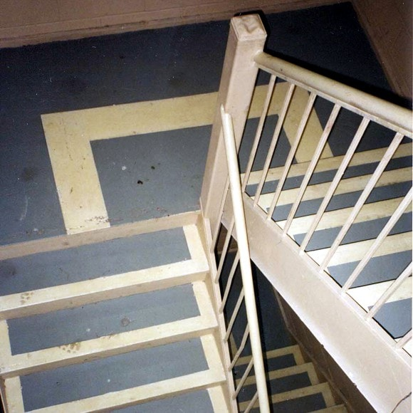 After 1 year of active staircase use, this photo taken in 1995