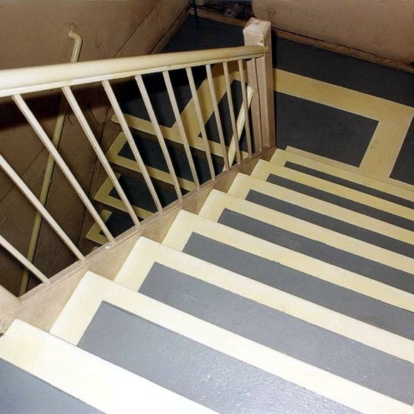 Permalight® Photoluminescent Markings on steps, landings and handrails